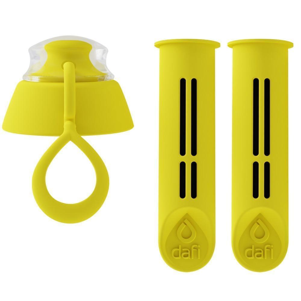 2 τεμ. Ανταλλακτικά φίλτρα για Dafi filter bottle Κιτρινο